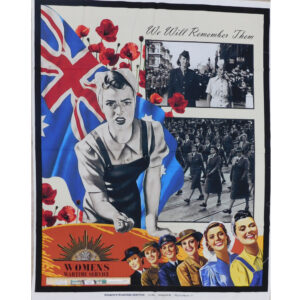 Patchwork Quilting Sewing Fabric ANZAC Women in Wartime Panel 89x110cm