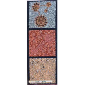Patchwork Quilting Sewing Fabric Aboriginal Indigenous Panel B 41x110cm