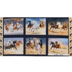 Patchwork Quilting Sewing Fabric Runaway Brumbies Panel 62x110cm