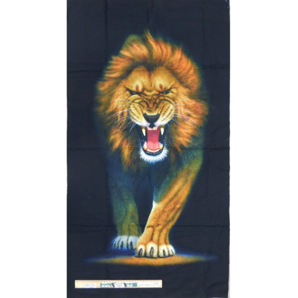 Patchwork Quilting Sewing Fabric African Lion Panel 60x110cm
