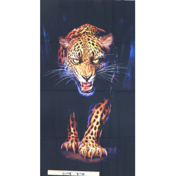 Patchwork Quilting Sewing Fabric African Cheetah Panel 60x110cm