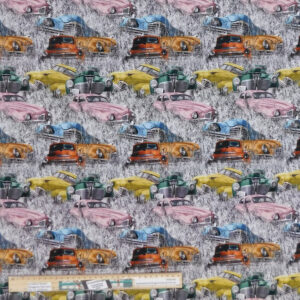 Quilting Patchwork Sewing Fabric Rustic Relics Cars 50x55cm FQ