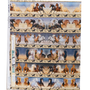 Patchwork Quilting Fabric Runaway Brumbies Border Panel 53x110cm