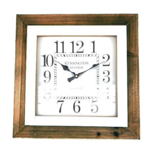 Clock French Country Wall SQUARE KENSINGTON STATION Dark