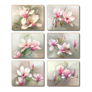 Country Kitchen MAGNOLIAS Cinnamon Cork Backed Placemats Set 6