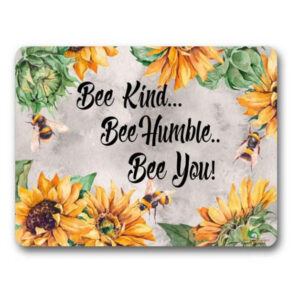 Gwen St Designs Kitchen Cork Backed Placemats AND Coasters Bee Kind Set 6
