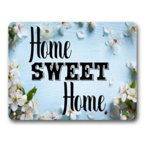 Gwen St Designs Kitchen Cork Backed Placemats AND Coasters Home Sweet Home Set 6