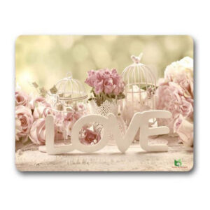 Gwen St Designs Kitchen Cork Backed Placemats AND Coasters Love Roses Set 6