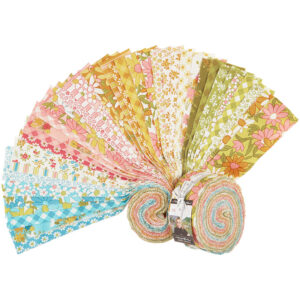 Moda Quilting Jelly Roll Blooming Bunch 2.5 Inch Sewing Fabrics