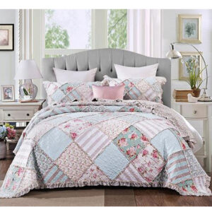 French Country Patchwork Bed Quilt Country Charm Coverlet Assort Sizes