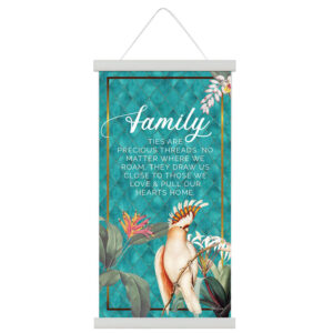 French Country Canvas Sign Lush Australian Birds Family Hanging