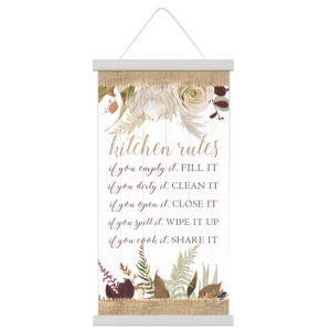 French Country Canvas Sign Natives Kitchen Rules Hanging