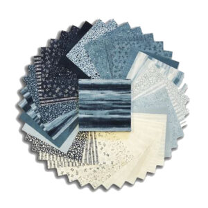 Moda Quilting Charm Pack Patchwork The Blues 5 Inch Sewing Fabrics