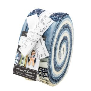 Moda Quilting Jelly Roll Patchwork The Blues 2.5 Inch Sewing Fabrics