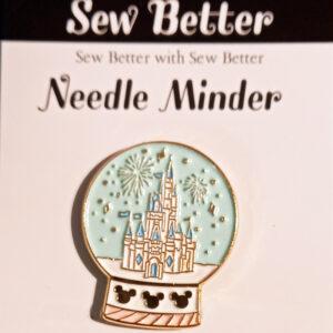 Sew Better Cross Stitch Sewing Needle Minder Keeper Magical Snowglobe