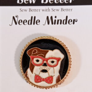 Sew Better Cross Stitch Sewing Needle Minder Keeper Bull Dog