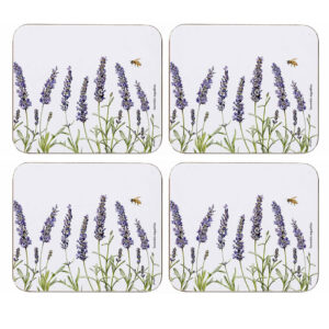 Ashdene Dining Kitchen Lavender Fields Cork Backed Coasters Set 4