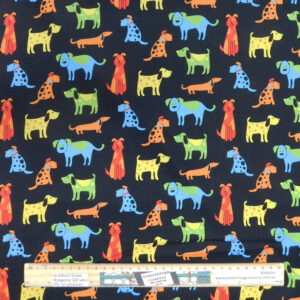 Quilting Patchwork Sewing Fabric Happy Paws Dogs Material 50x55cm FQ