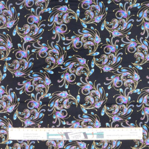 Quilting Patchwork Sewing Fabric Peacock Flourish Allover 50x55cm FQ