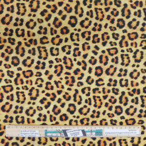 Quilting Patchwork Sewing Fabric Leopard Animal Print Material 50x55cm FQ