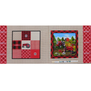 Patchwork Quilting Fabric Farmall Tractor Panel 45x110cm Material