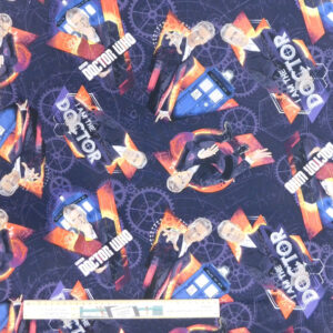 Quilting Patchwork Sewing Fabric I Am The Doctor Who 50x55cm FQ