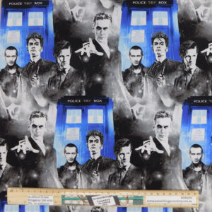 Quilting Patchwork Sewing Fabric Doctor Dr Who 50x55cm FQ