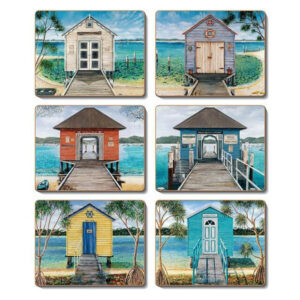 Country Kitchen BOATHOUSE Cinnamon Cork Backed Placemats Set 6