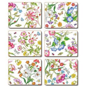 Country Kitchen MILANO Cinnamon Cork Backed Coasters Set 6