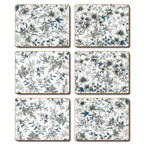 Country Kitchen UMBRIA Cinnamon Cork Backed Coasters Set 6