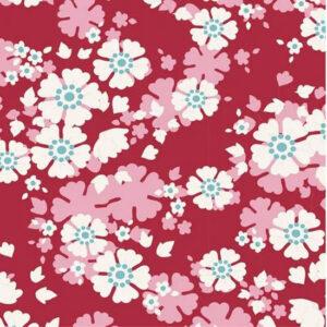 Quilting Patchwork Sewing Fabric TILDA Woodland Aster Carmine 50x55cm FQ