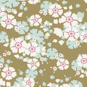 Quilting Patchwork Sewing Fabric TILDA Woodland Aster Olive 50x55cm FQ