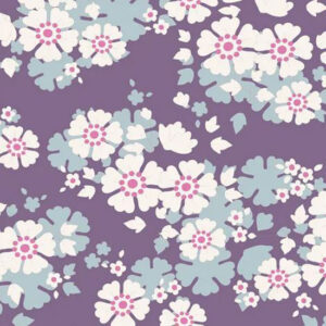 Quilting Patchwork Sewing Fabric TILDA Woodland Aster Violet 50x55cm FQ