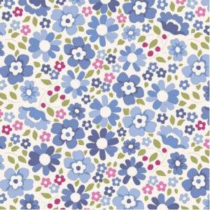 Quilting Patchwork Sewing Fabric TILDA Woodland Clara Blue 50x55cm FQ