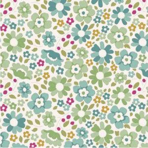 Quilting Patchwork Sewing Fabric TILDA Woodland Clara Teal 50x55cm FQ