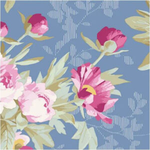 Quilting Patchwork Sewing Fabric TILDA Woodland Hazel Blue 50x55cm FQ