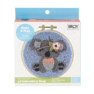 Birch Punch Needle Kit Kids Beginner Koala Inc Threads 15.24cm