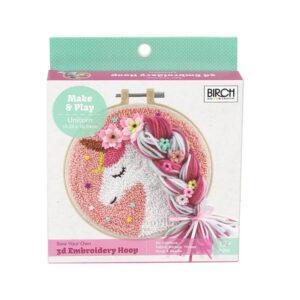 Birch Punch Needle Kit Kids Beginner Unicorn Inc Threads 15.24cm