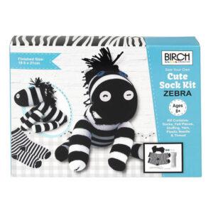 Birch Sew Your Own Sock Kit Kids Beginner Zebra Inc All Materials