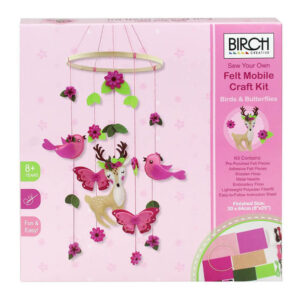 Birch Sew Your Own Felt Mobile Craft Kit Birds and Butterflies DIY