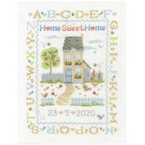 DMC Cross Stitch Kit Home Sweet Home Sampler Counted X Stitch