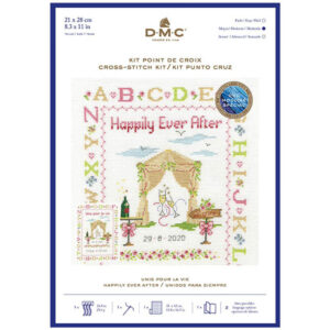 DMC Cross Stitch Kit Happily Ever After Sampler Counted X Stitch