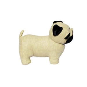 French Country Vintage Weighted CREAM PUG DOG Door Stopper