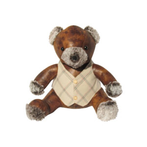 French Country Vintage Weighted WINSTON TEDDY BEAR Door Stopper