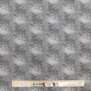 Quilting Patchwork Fabric Sewing Grey Vines Wide Backing 270x50cm