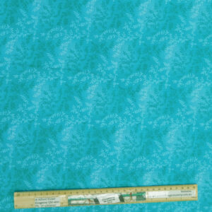 Quilting Patchwork Fabric Sewing Aqua Vines Wide Backing 270x50cm