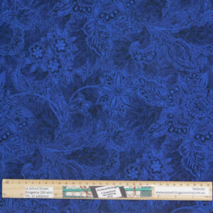Quilting Patchwork Fabric Sewing Royal Navy Shadows Wide Backing 295x50cm