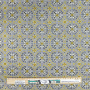 Quilting Patchwork Sewing Fabric Bee Mandala Grey 50x55cm FQ