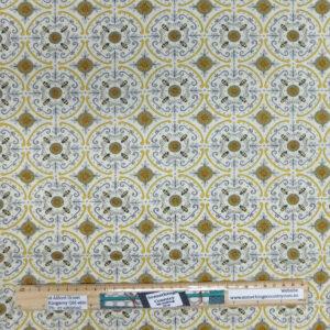 Quilting Patchwork Sewing Fabric Bee Mandala Cream 50x55cm FQ