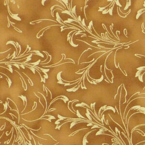 Quilting Patchwork Sewing Fabric Tan Gold Metallic 50x55cm FQ